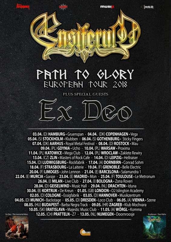 Ensiferum - Path to Glory Tour 2018