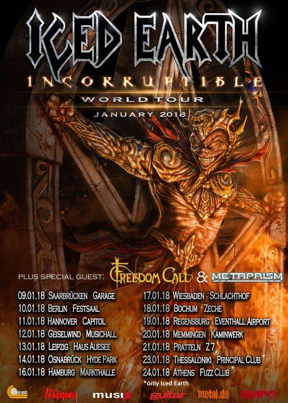 Iced Earth Tour 2018