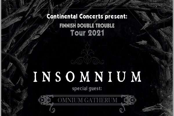 INSOMNIUM announce their re-scheduled tourdates with Omnium Gatherum