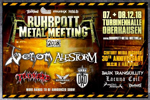Venom is confirmed for Ruhrpott Metal Meeting 2018!